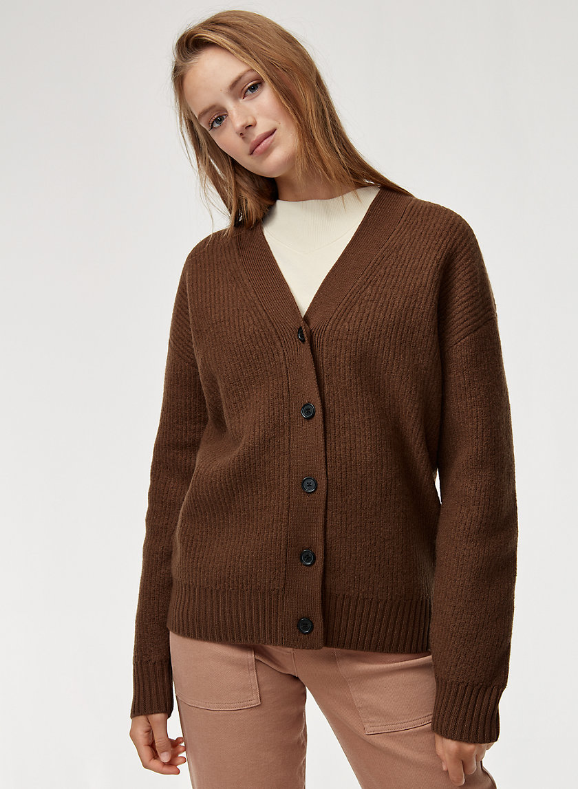 LOVISA CARDIGAN - Merino-wool, button-up cardigan