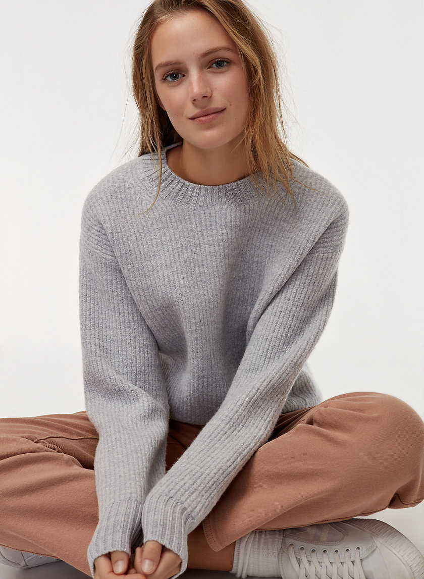 TOBI SWEATER - Ribbed, merino-wool crewneck sweater