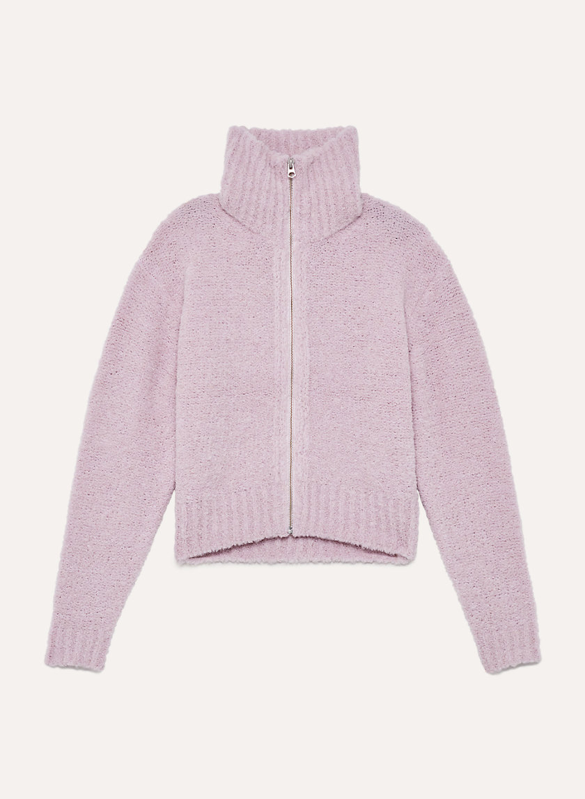 MARILYN SWEATER - Alpaca-blend zip-up sweater
