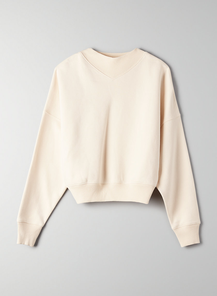 KATY SWEATER - Cropped mock-neck sweater