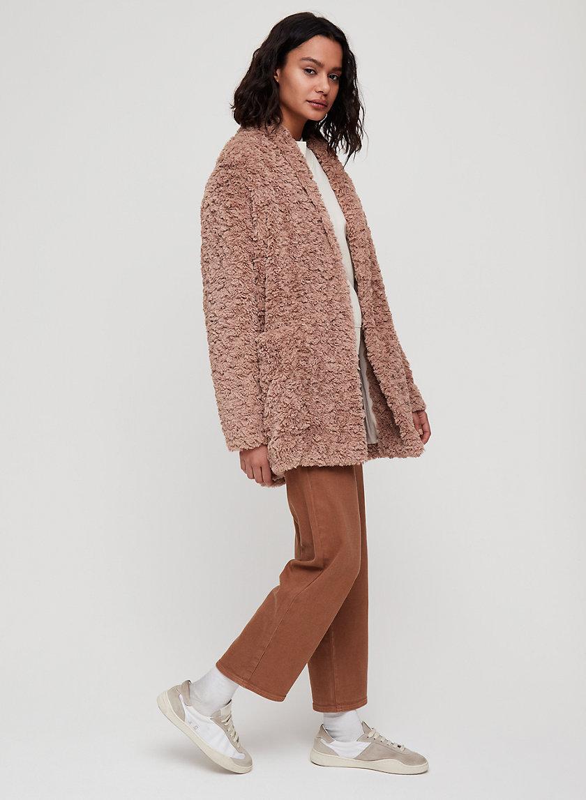 PLUSH JACKET - Cocoon sherpa jacket