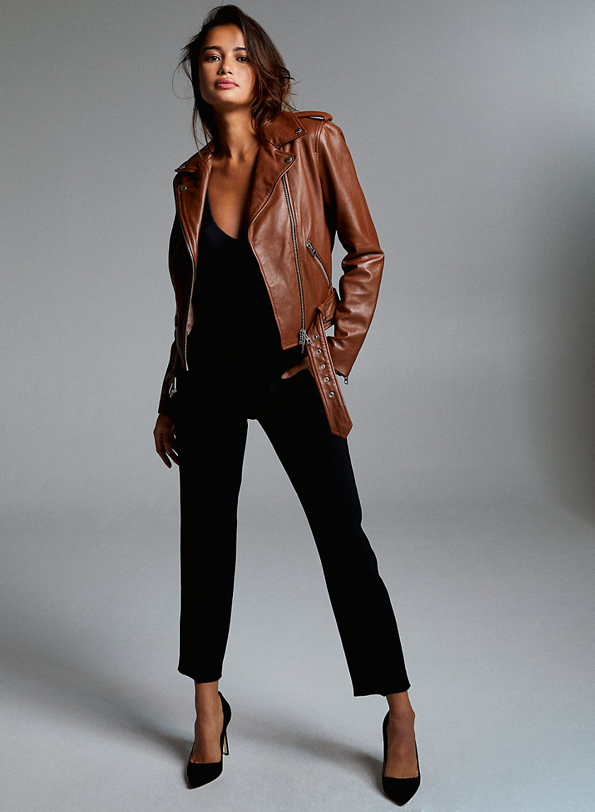 LENNON LEATHER BIKER - Leather moto jacket