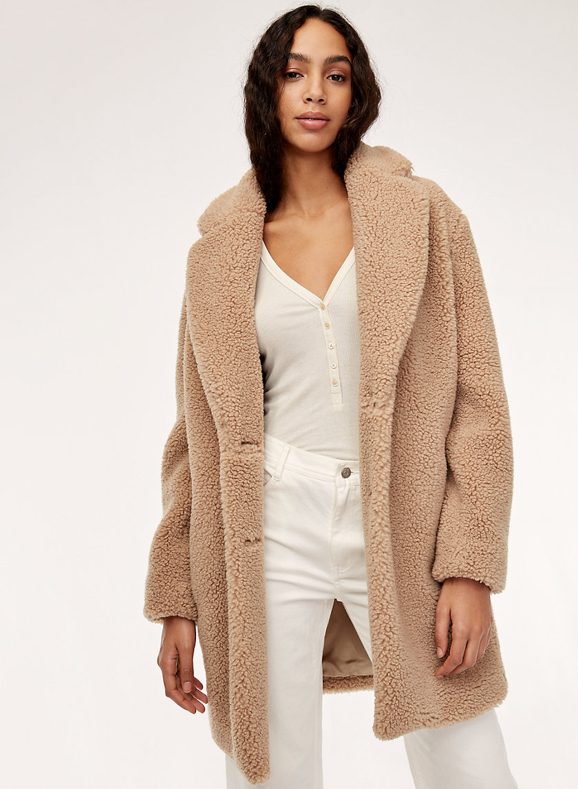 THE TEDDY COCOON - Cozy sherpa cocoon coat