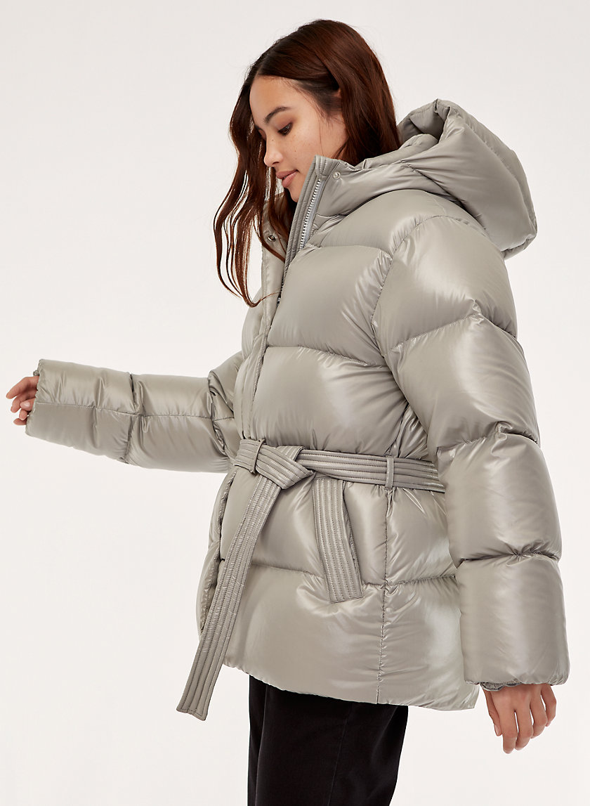 THE MARSHMALLOW PUFF - Belted, goose-down puffer jacket