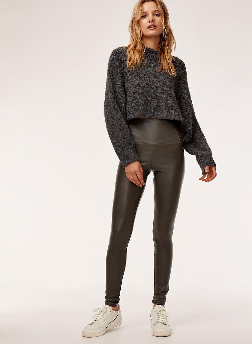 DARIA PANT - Faux-leather legging