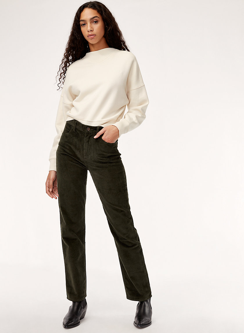 MADDIE PANT - High-waisted corduroy pant