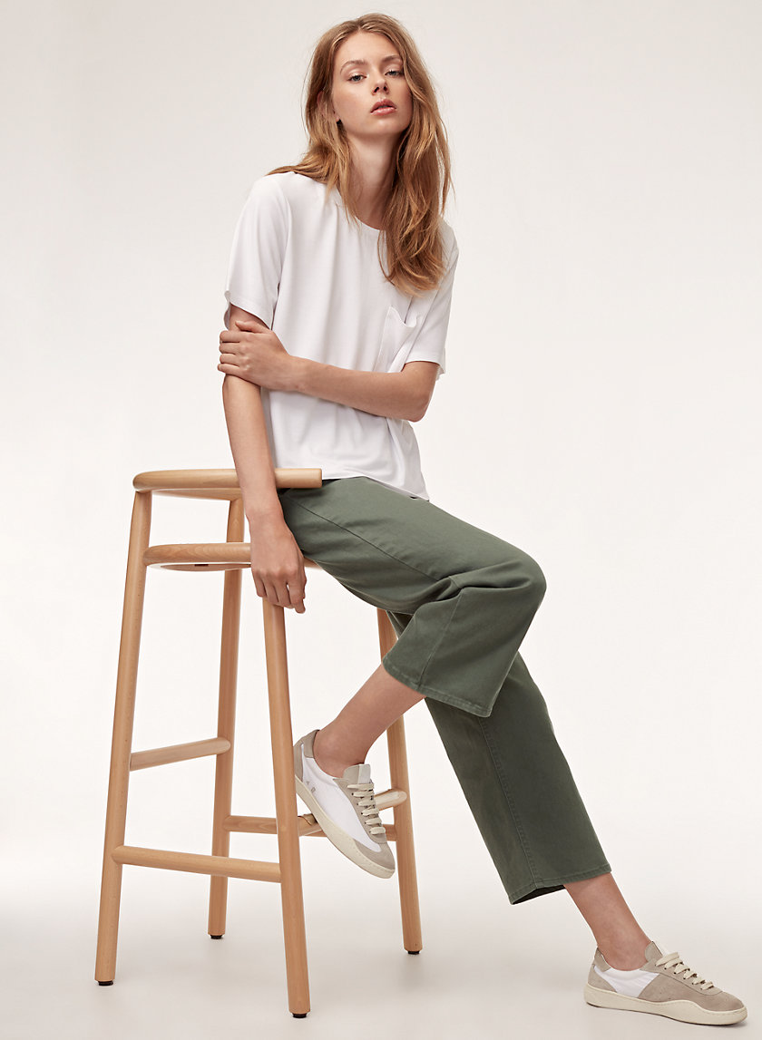 ASHIKA PANT - Cropped, high-waisted pant