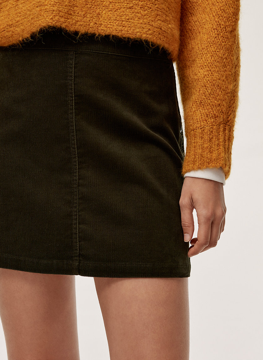 AALIYAH SKIRT - A-line, corduroy mini skirt