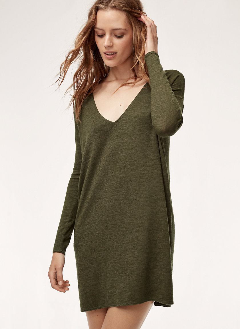 GAIL DRESS - Long-sleeve, V-neck dress