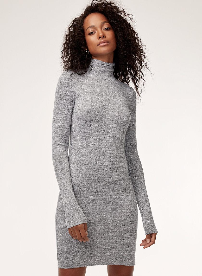 SASHA DRESS - Long-sleeve, turtleneck mini dress