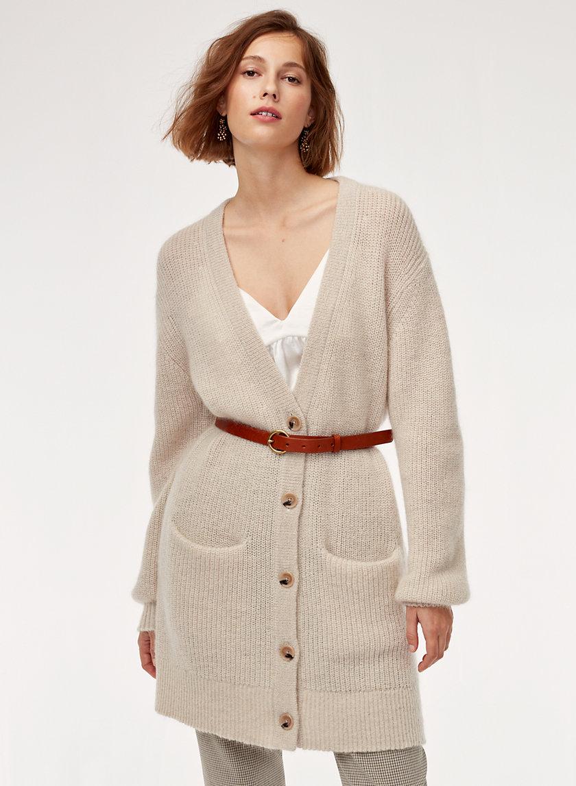 BLOSSOM CARDIGAN - Oversized, button-up cardigan