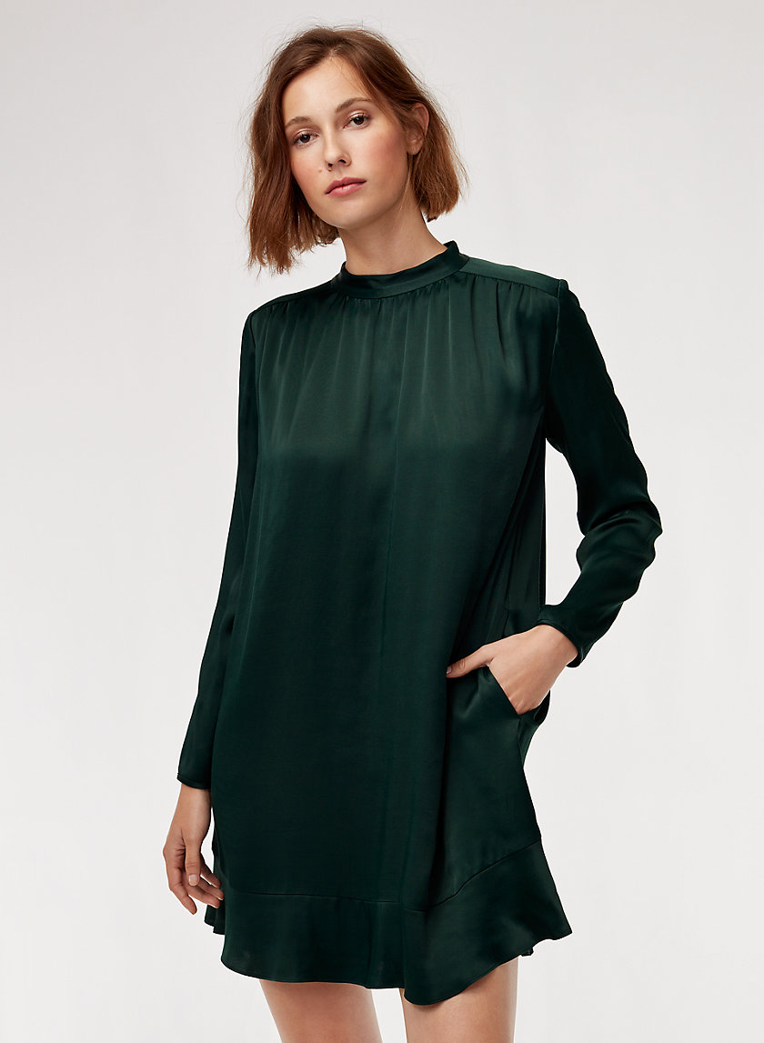 HONEYSUCKLE DRESS - Long-sleeve mini dress with pockets