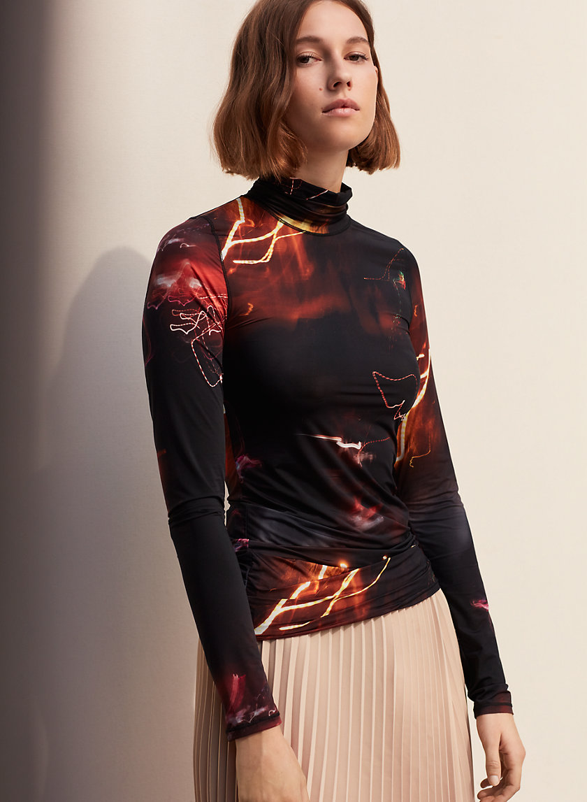 KUSAMA TURTLENECK - Long-sleeve, printed t-shirt