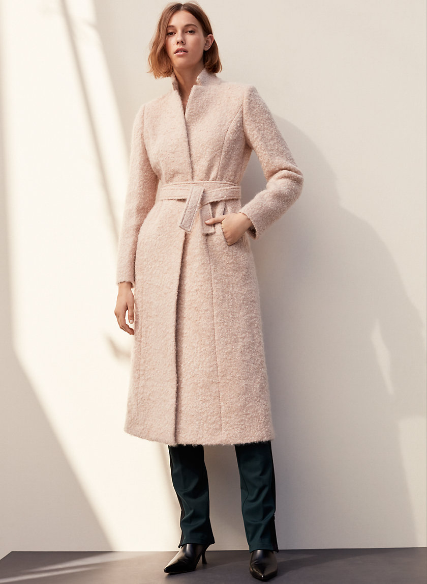 MARKOSIAN COAT - Long, belted, wool-blend coat