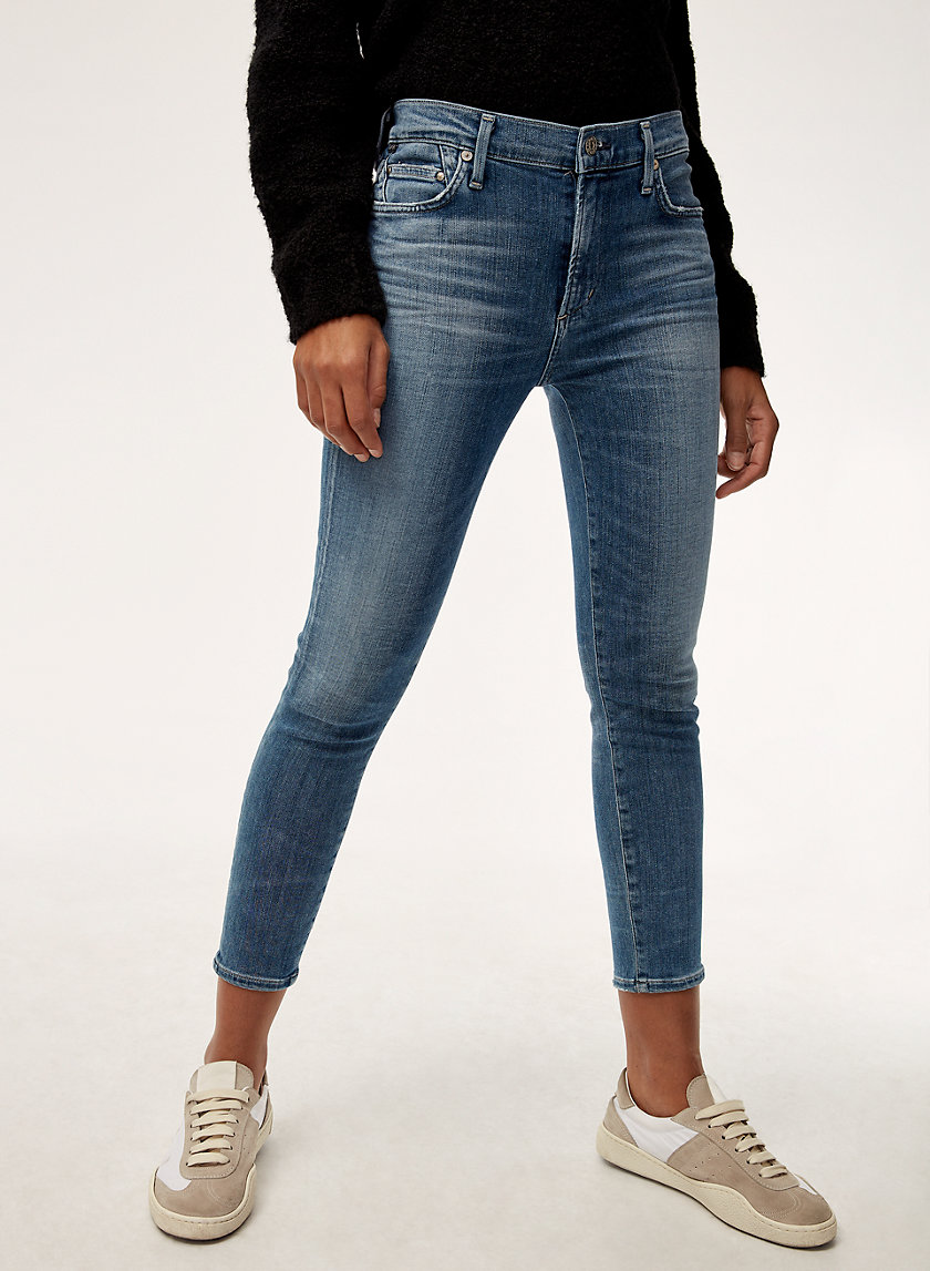 ROCKET CROP AURA - High-waisted skinny jean