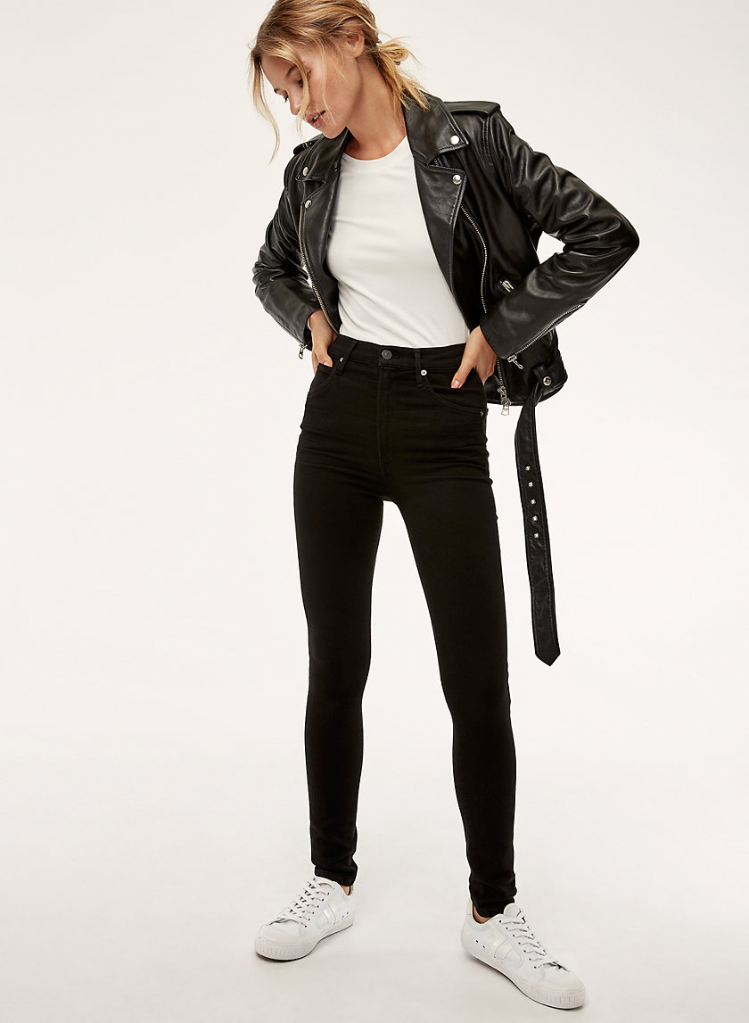 Chrissy All Black   High Waisted Skinny Jean by Citizens Of Humanity