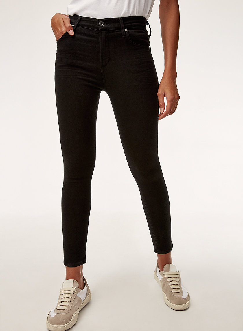 Citizens of Humanity ROCKET CROP ALL BLACK | Aritzia