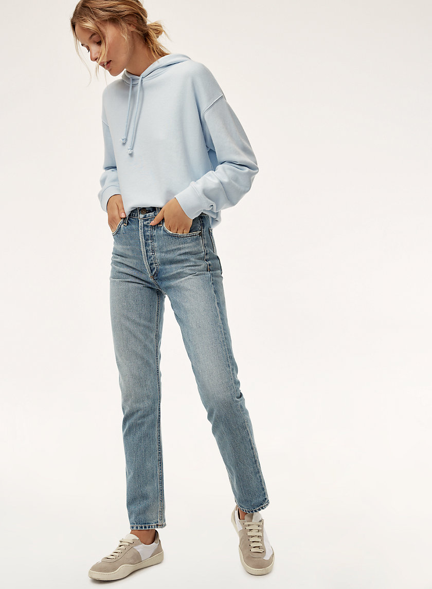 CHARLOTTE WYNWOOD - High-waisted, straight-leg jean