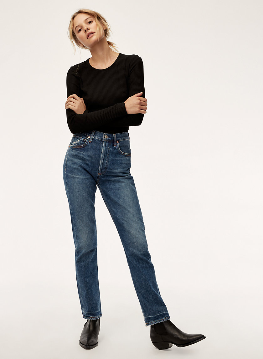 CHARLOTTE UNDERTONE - High-waisted, straight-leg jean