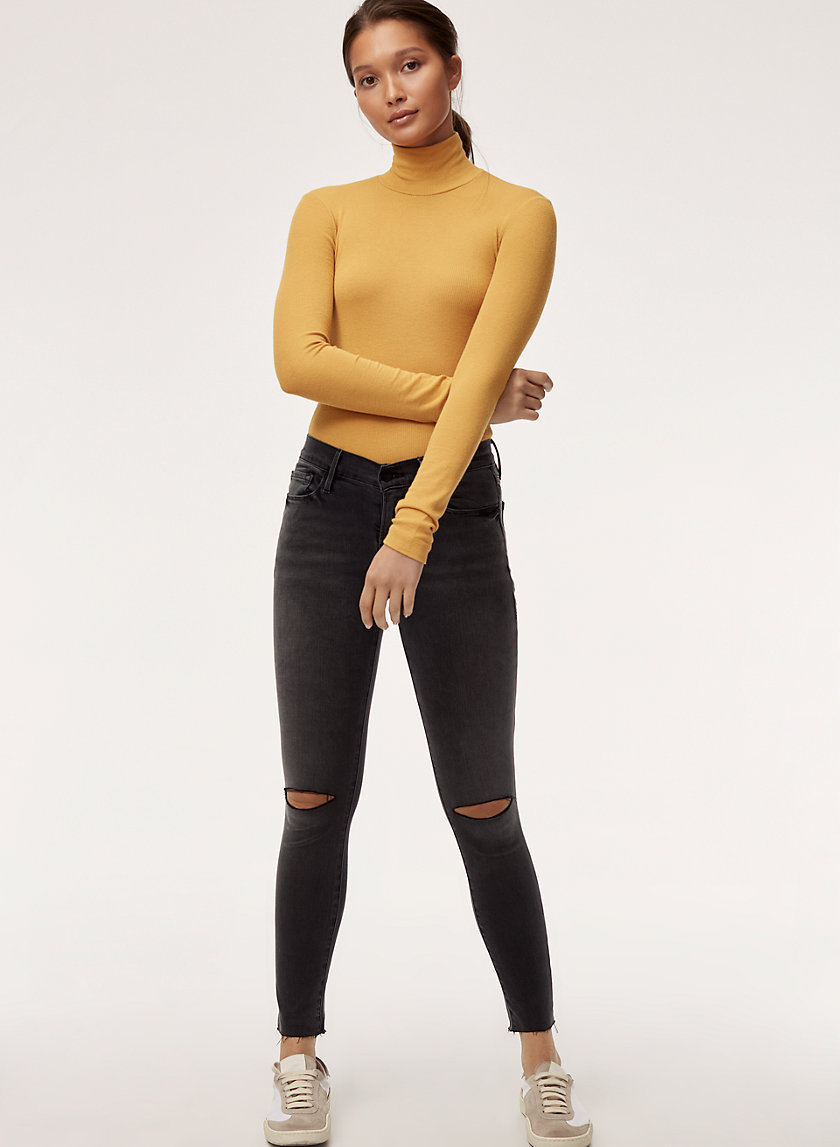 LE SKINNY - Mid-rise, ripped skinny jean