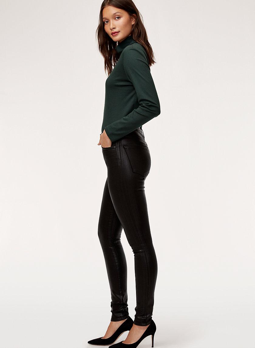 ROCKET LEATHERETTE - Coated skinny jean