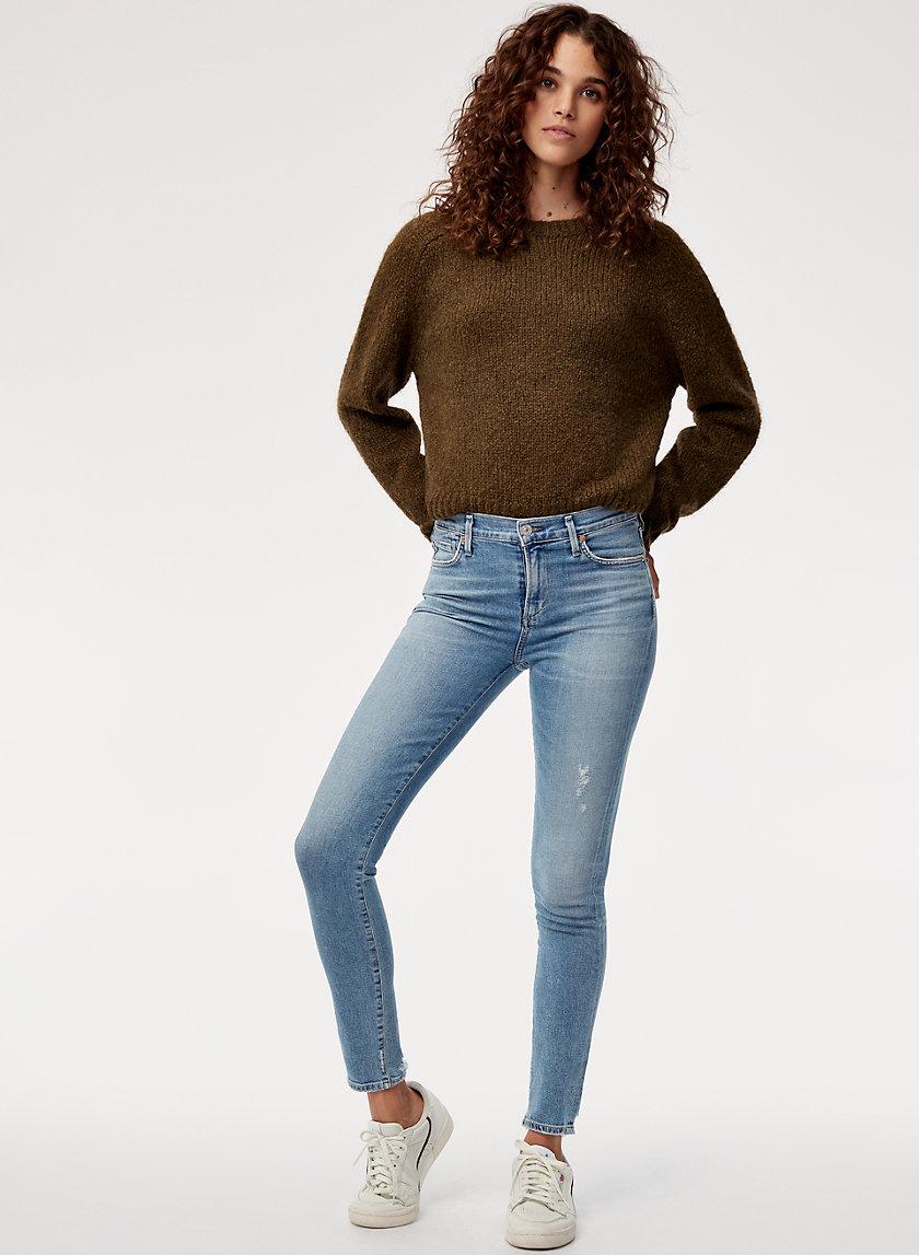 ROCKET SMALL TALK - High-waisted, distressed skinny jean