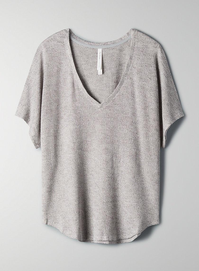 LINDA T-SHIRT - Cocoon waffle t-shirt