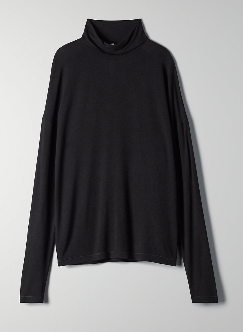JULIET T-SHIRT - Mock neck long sleeve top