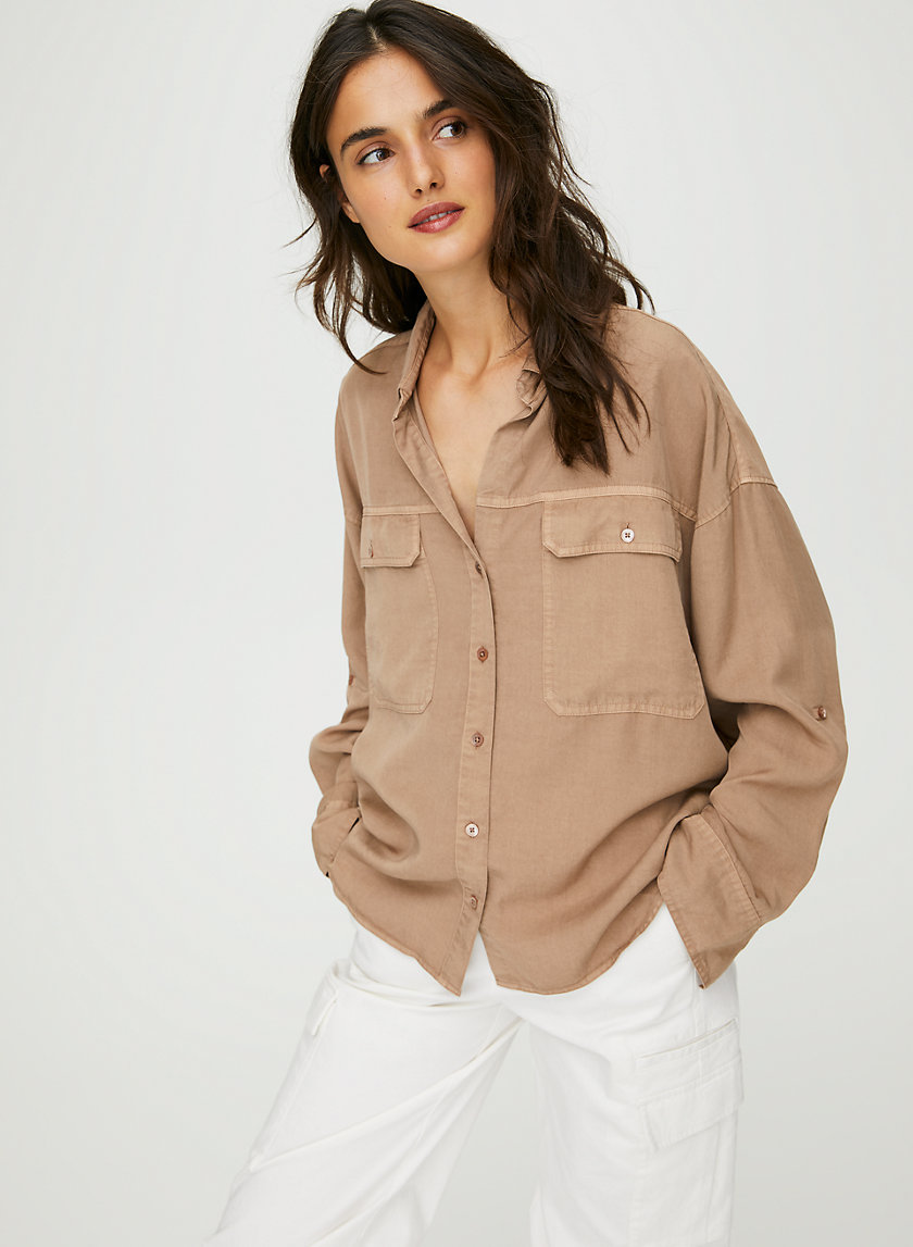 OVERSIZED UTILITY BUTTON-UP - Oversized button-up shirt