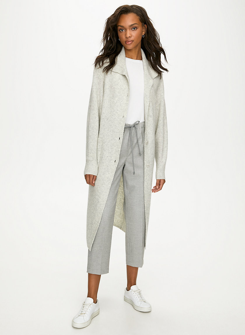 NOUR SWEATER - Long wool cardigan