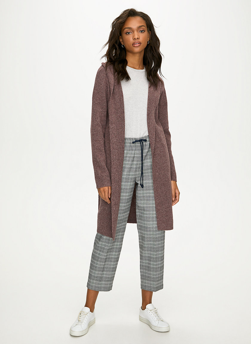 AMMONIUS SWEATER - Hooded open-front cardigan