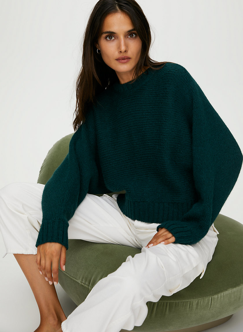 DAY OFF SWEATER - Oversized crewneck alpaca sweater