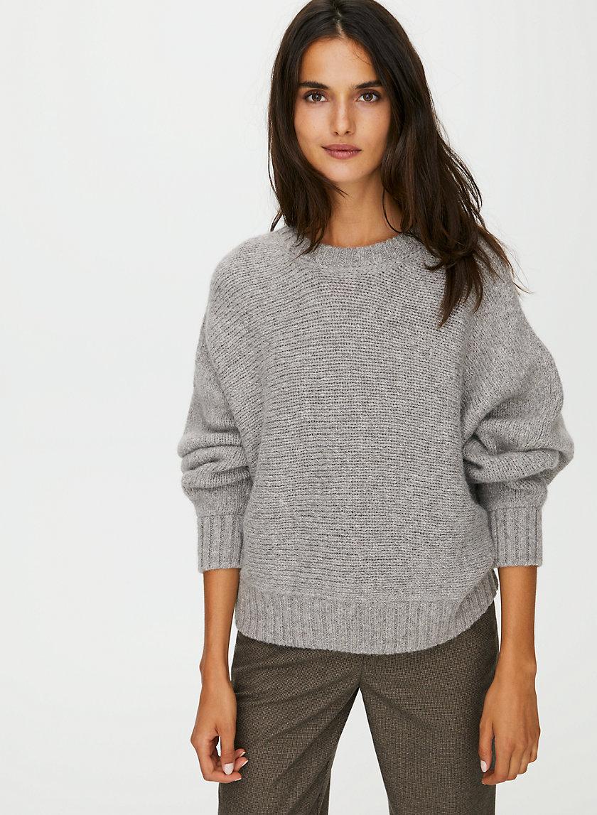 DAY OFF SWEATER - Oversized crewneck alpaca sweater