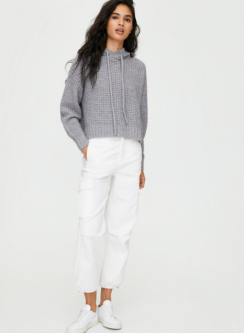 LUXE CASHMERE HOODIE - Waffle-knit cashmere hoodie