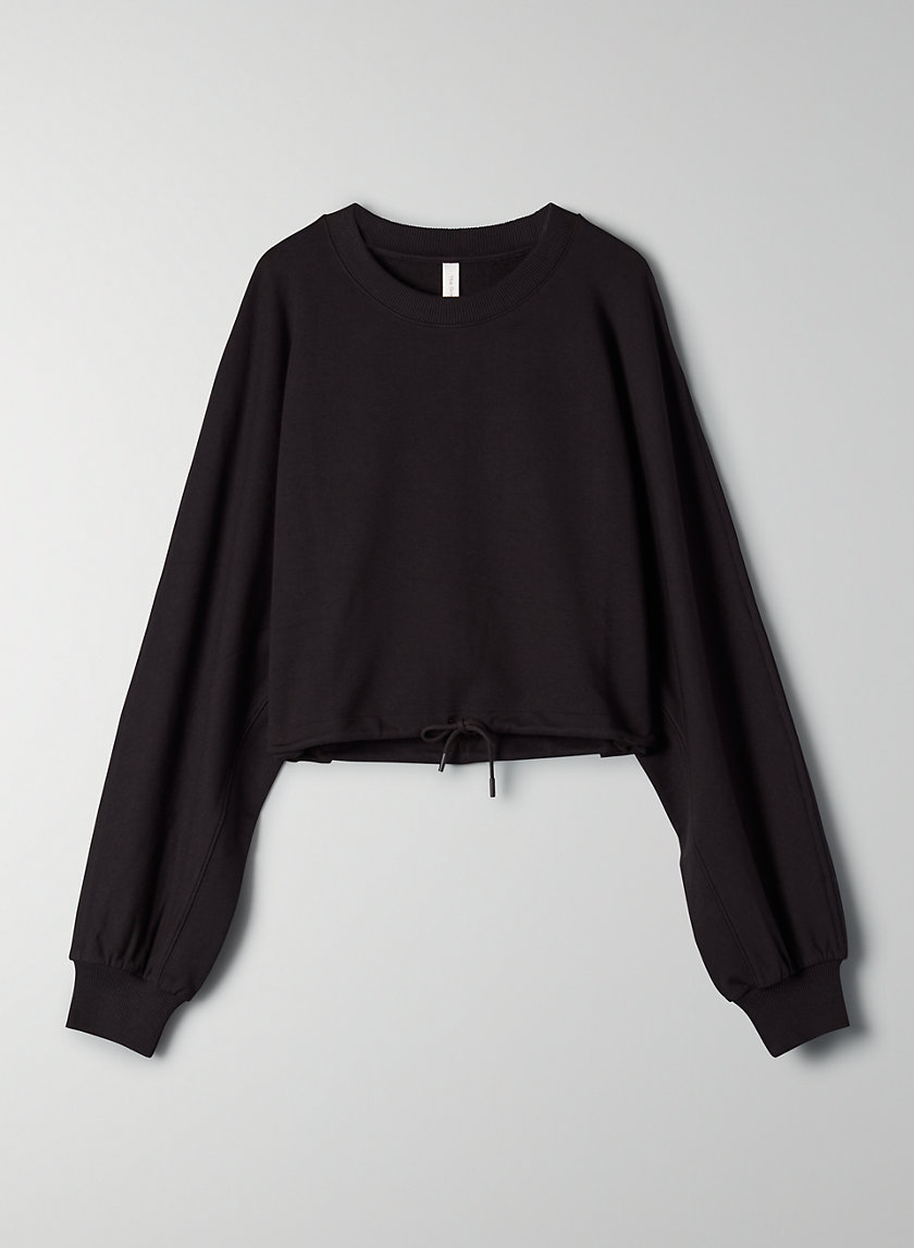 LEISURE SWEATSHIRT - Cropped oversized sweatshirt