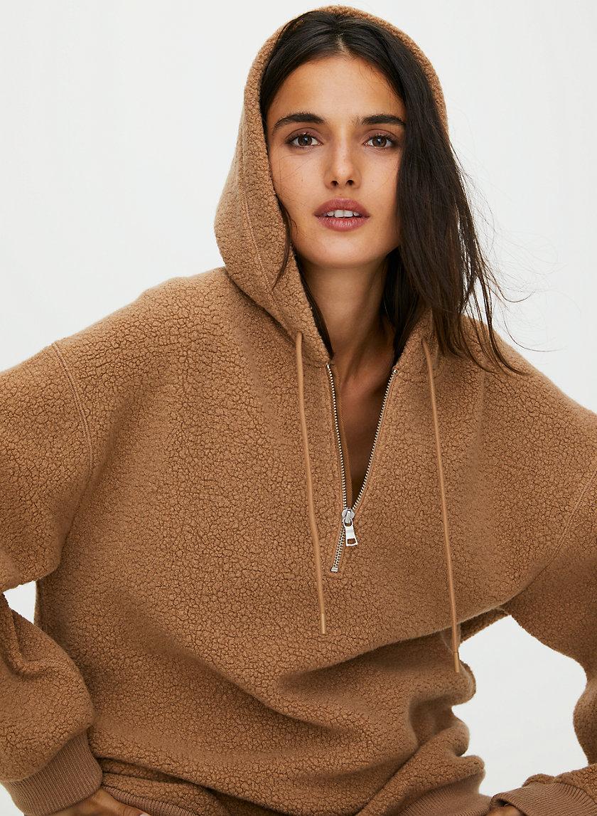 LILLIAN HOODIE - Relaxed sherpa hoodie