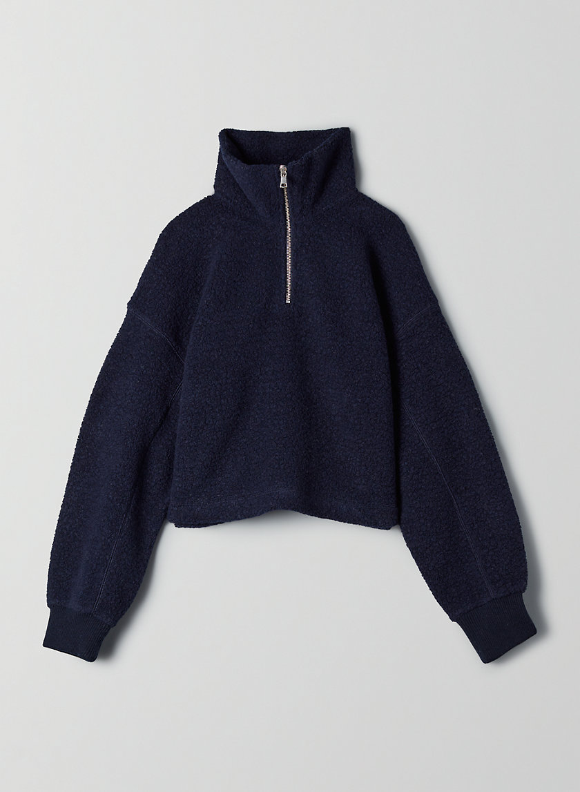 SUTTON SWEATER - Sherpa mock-neck sweater