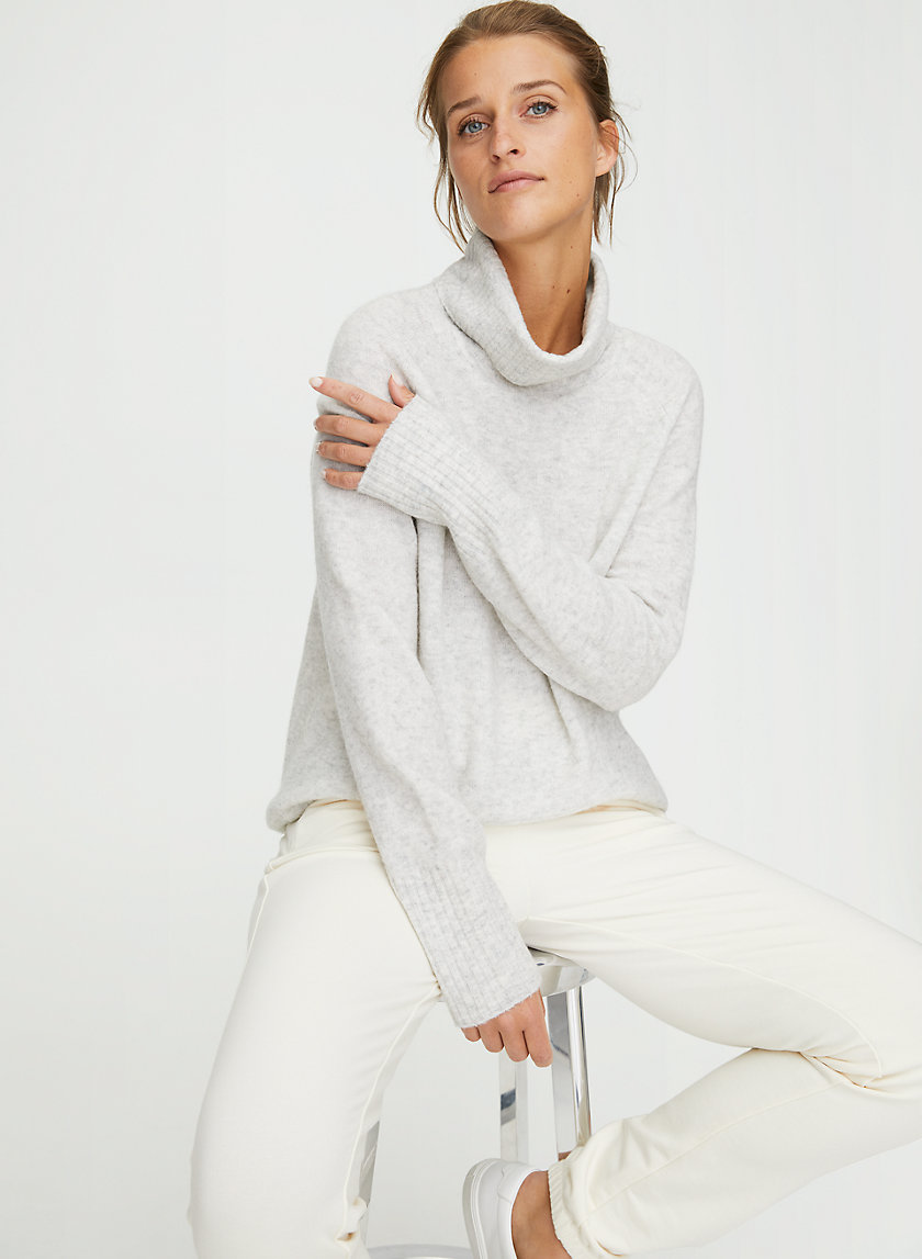 PLUTARCH SWEATER - Wool-cashmere turtleneck sweater