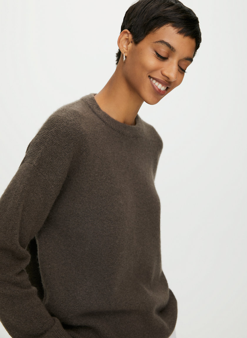 LOUNGE CREWNECK SWEATER - Wool and cashmere sweater