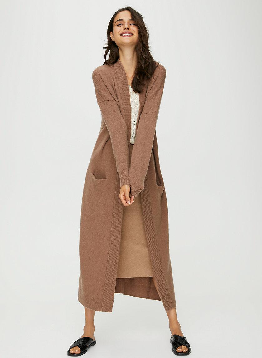 LONG LOUNGE CARDIGAN - Long cardigan cocoon sweater