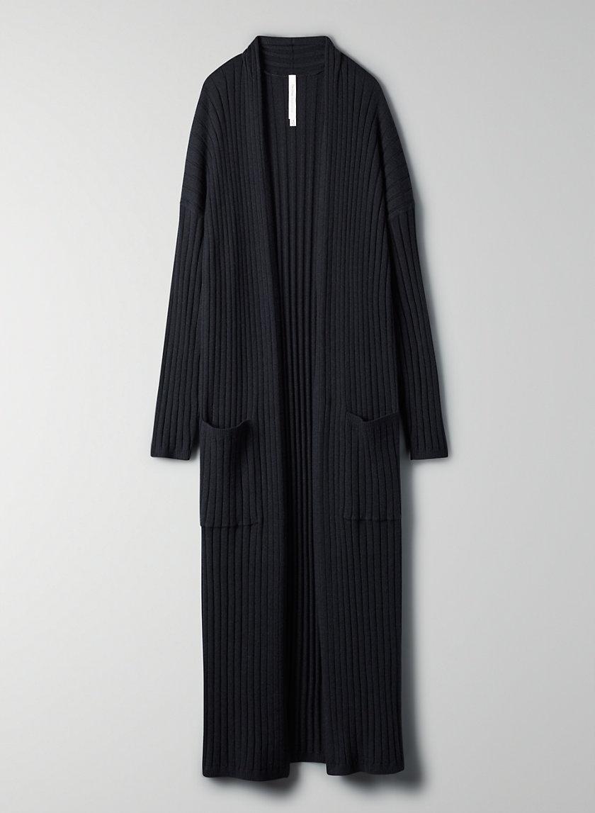 ONO CARDIGAN - Long wool-blend cardigan