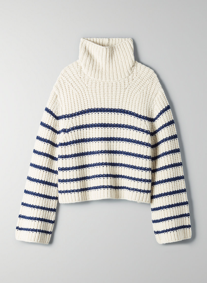 DEGAS SWEATER - Striped wool turtleneck