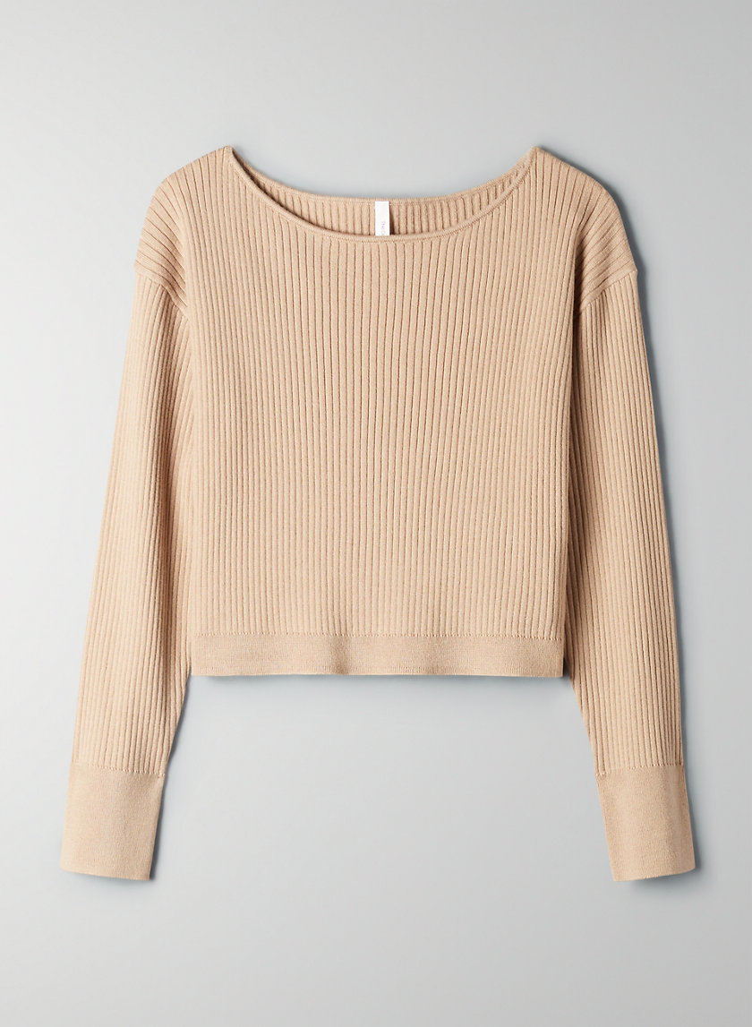 ONO SWEATER - Cropped boat-neck sweater