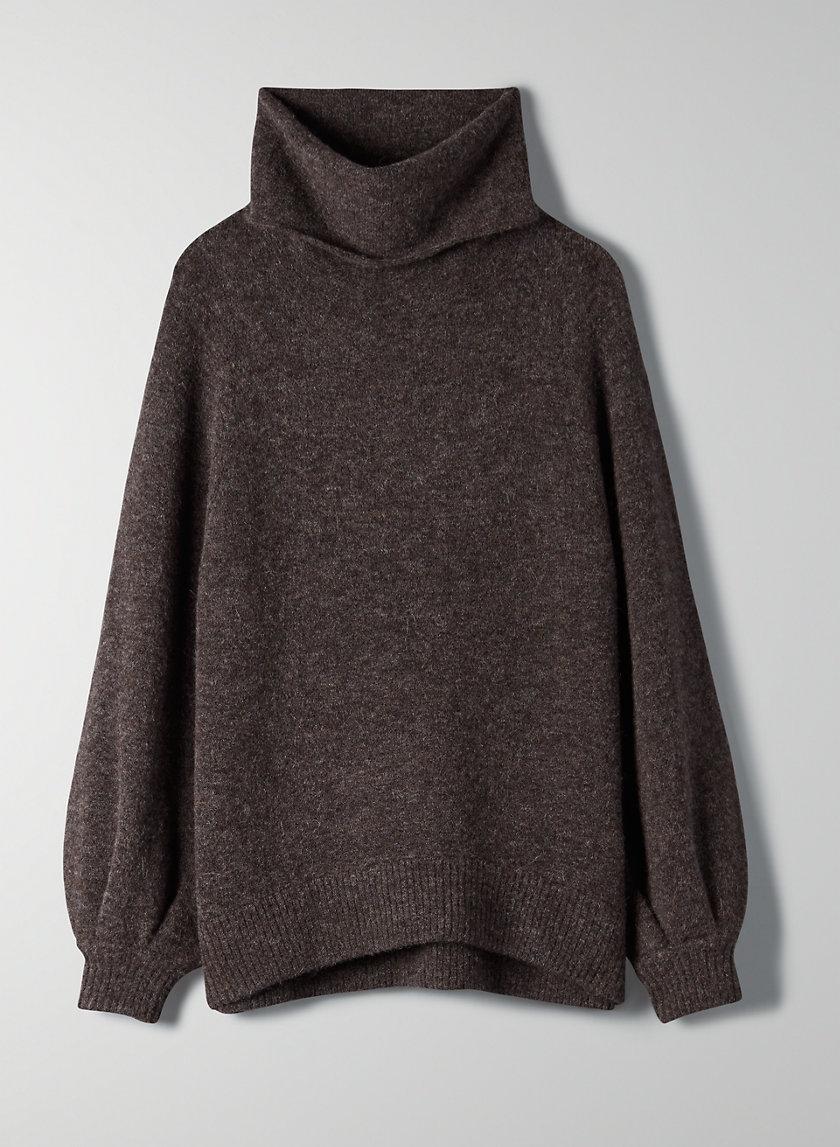 ADICHIE SWEATER - Lantern sleeve turtleneck sweater