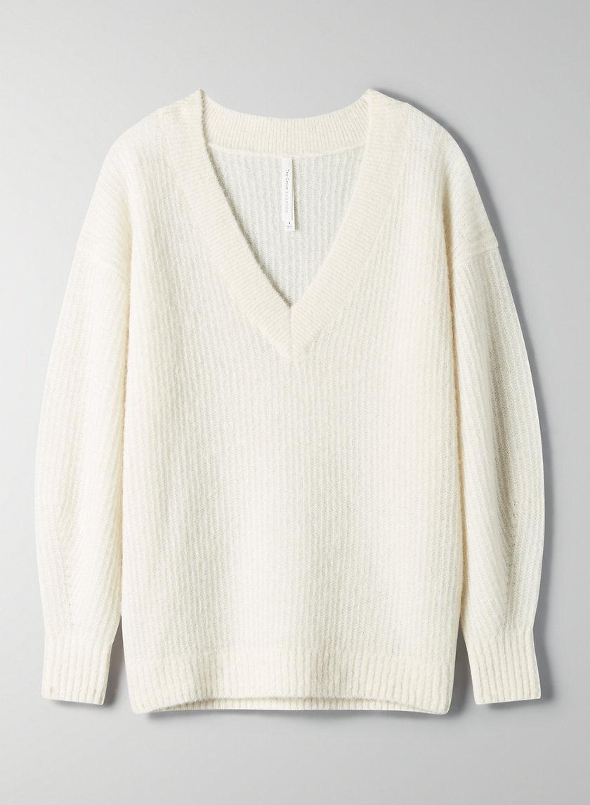 KLEIN SWEATER - Alpaca V-neck sweater