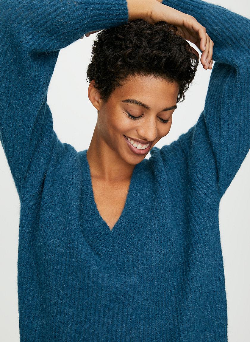 KLEIN SWEATER - Alpaca V-neck sweater