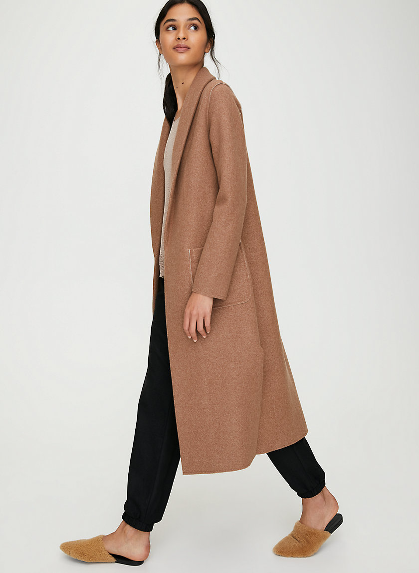 LUXE LOUNGE JACKET - Long, wool-blend jacket