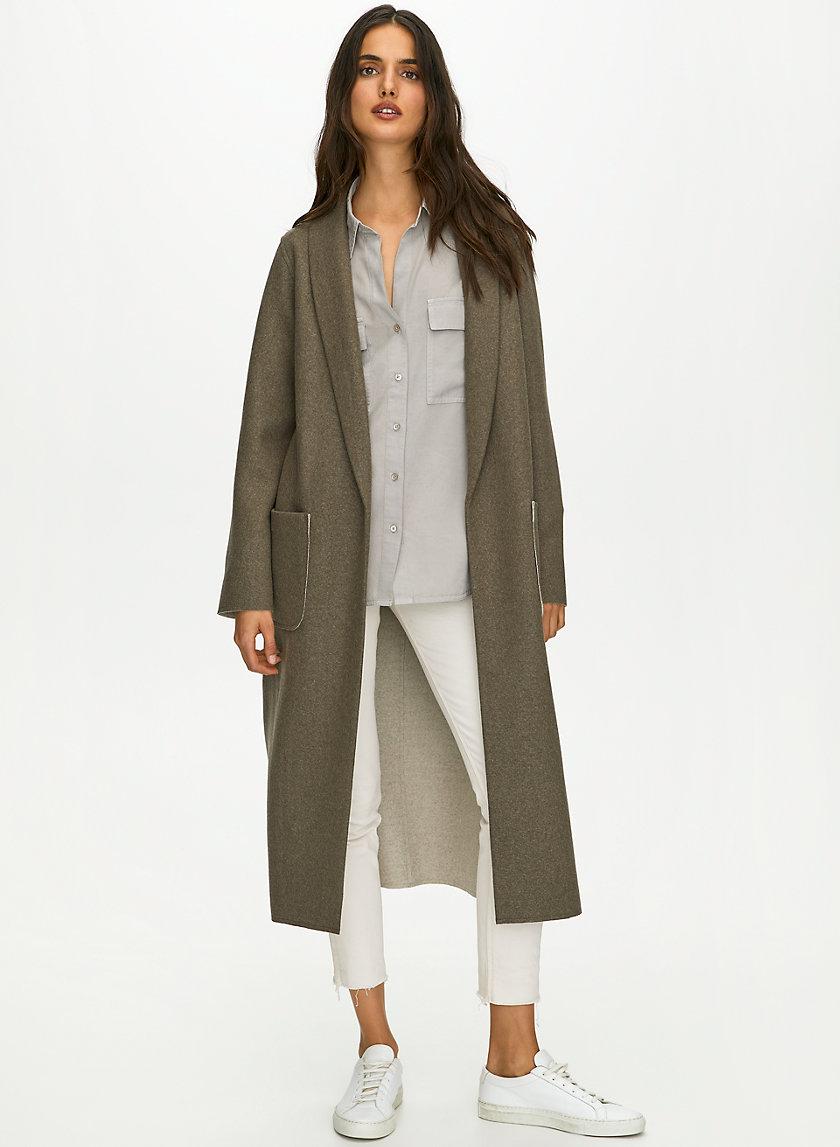 LUXE LOUNGE JACKET - Long, wool-blend jacket