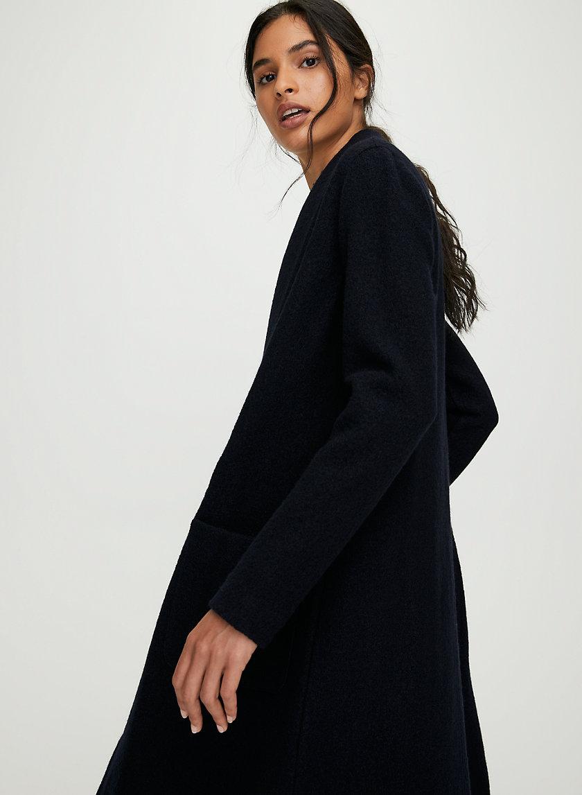 GORNICK JACKET - Long, open-front, merino-wool jacket