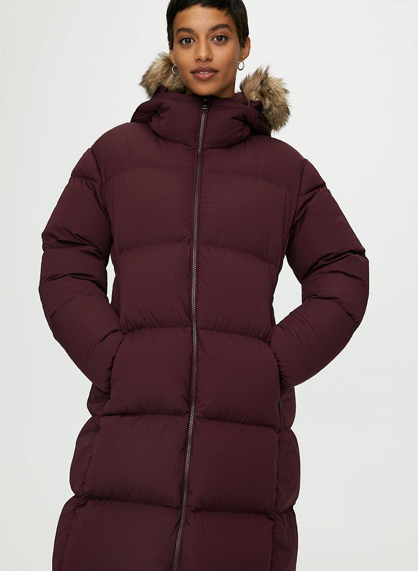 PARK CITY LONG PUFFER - Water-repellent, long down puffer jacket